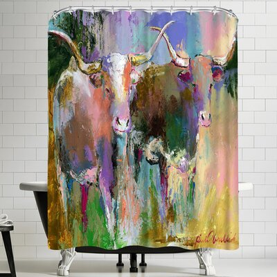 Richard Wallich Texas Longhorns Shower Curtain
