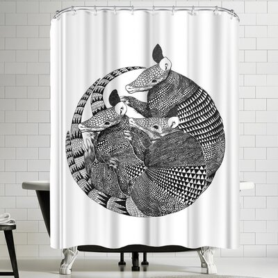 Laura Graves Armadillos Shower Curtain