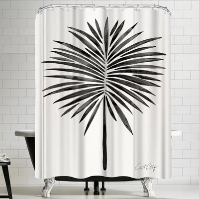 Cat Coquillette Black Fan Palm Shower Curtain