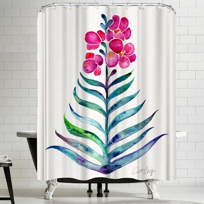 Cat Coquillette Blooming Orchid Shower Curtain