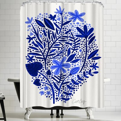 Cat Coquillette Blue Garden Shower Curtain
