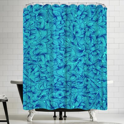 Cat Coquillette Blue Inklings Shower Curtain