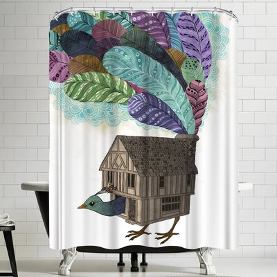 Laura Graves Bird House Revisited Shower Curtain