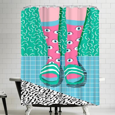 Wacka Designs Chillax Shower Curtain