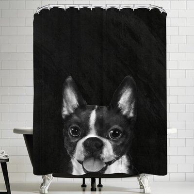 Laura Graves Bostonterrier Shower Curtain