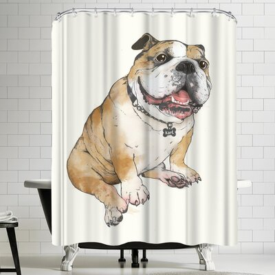 Laura Graves Bull Dog Shower Curtain