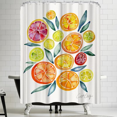 Cat Coquillette Citrus Slices Shower Curtain