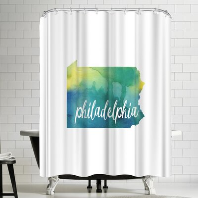 Paperfinch PA Philadelphia Shower Curtain