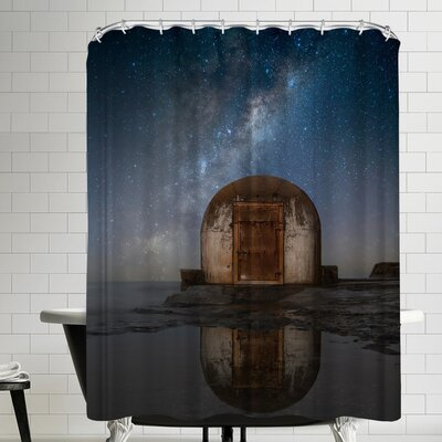 1x Lonely Hut Shower Curtain