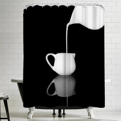 Maja Hrnjak Milk 1 Shower Curtain