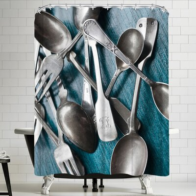 Maja Hrnjak Silver Spoons Shower Curtain