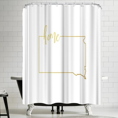 Paperfinch South Dakota Home Shower Curtain