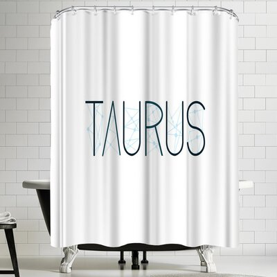 Paperfinch Taurus Alphabet Shower Curtain
