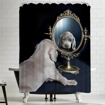 Maja Hrnjak Weimaraner Puppy Shower Curtain
