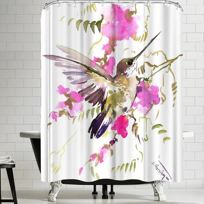 Suren Nersisyan Hummingbird Flyiong Shower Curtain