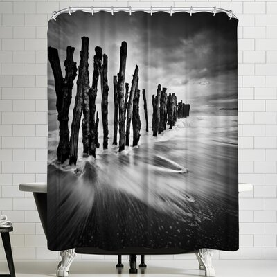 1x Timber Graffiti Shower Curtain