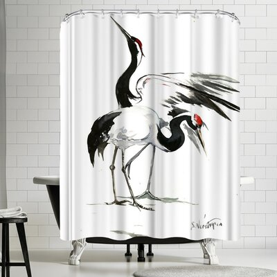 Suren Nersisyan Japanese Cranes Shower Curtain