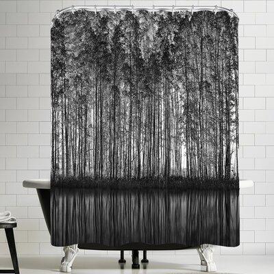 1x Pointillism Nature Shower Curtain