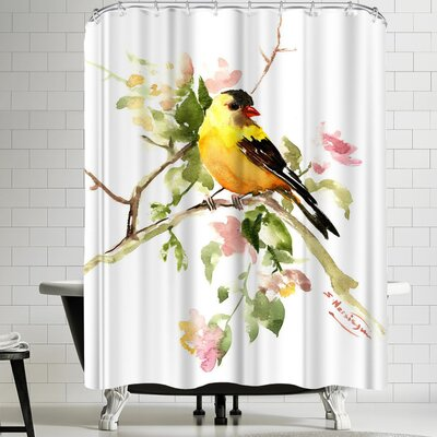 Suren Nersisyan American Goldfinch Songbird Shower Curtain