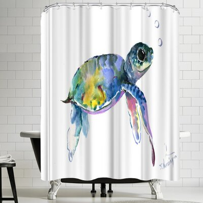 Suren Nersisyan Baby Sea Turtles 2 Shower Curtain