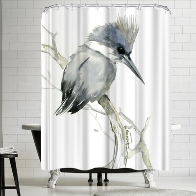 Suren Nersisyan Belted Kingfisher 2 Shower Curtain