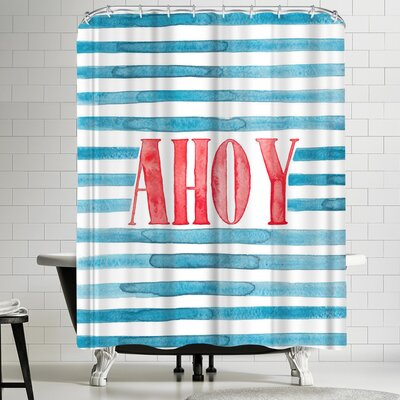 Elena Oneill Ahoy Shower Curtain