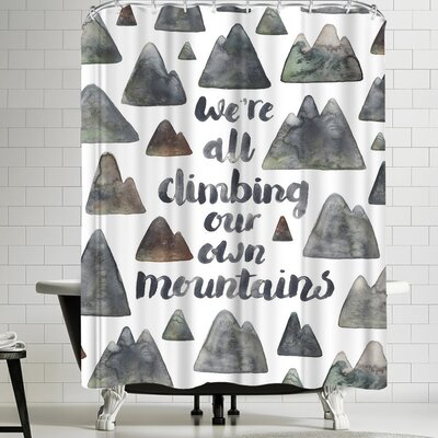 Elena Oneill Climbing Our Own Mountains Shower Curtain