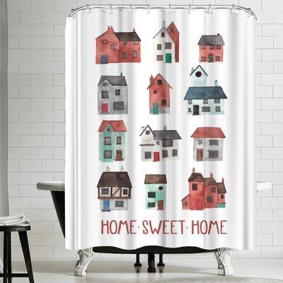 Elena Oneill Home Sweet Home Shower Curtain