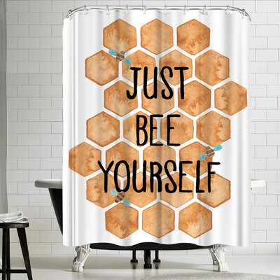 Elena Oneill Just Bee Yourself Shower Curtain