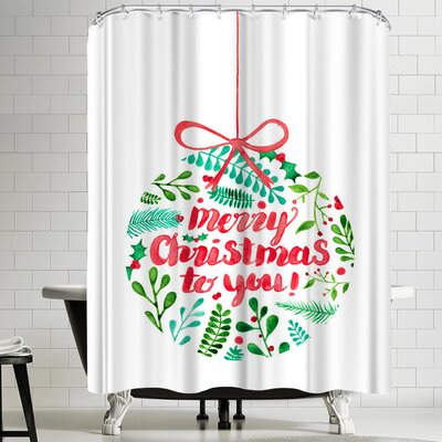 Elena Oneill Merry Christmas Shower Curtain