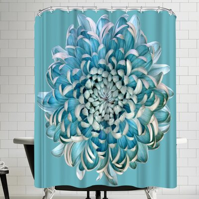 1x Blue Chrysanth Shower Curtain