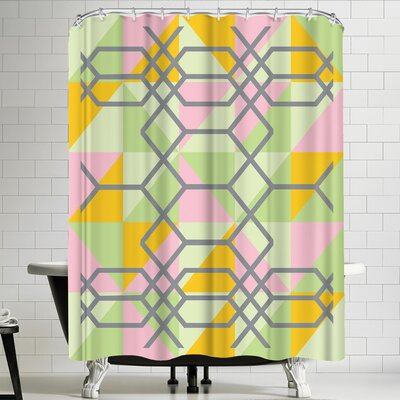 Ashlee Rae Geometrix Shower Curtain