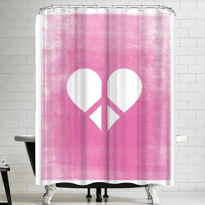 Ashlee Rae Love & Peace Shower Curtain