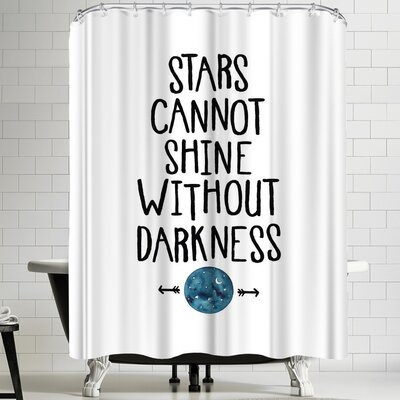Elena Oneill Stars Cannot Shine Without Darkness Shower Curtain