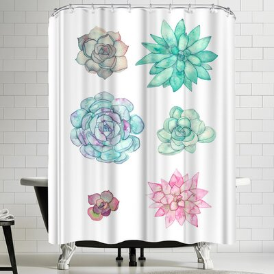 Elena Oneill Succulent Shower Curtain