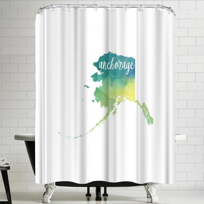 Paperfinch AK Anchorage Shower Curtain
