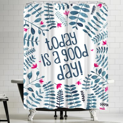 Elena Oneill Today is a Good Day Floral Shower Curtain
