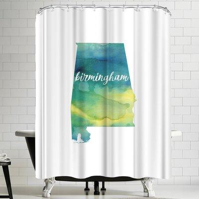 Paperfinch AL Birmingham Shower Curtain