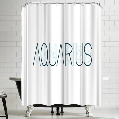 Paperfinch Aquarius Alphabet Shower Curtain