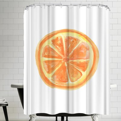 Jetty Printables Watercolor Orange Slice Shower Curtain