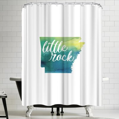 Paperfinch AR Little Rock Shower Curtain