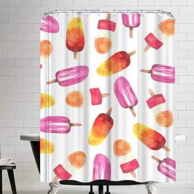 Jetty Printables Watercolor Popsicle Shower Curtain