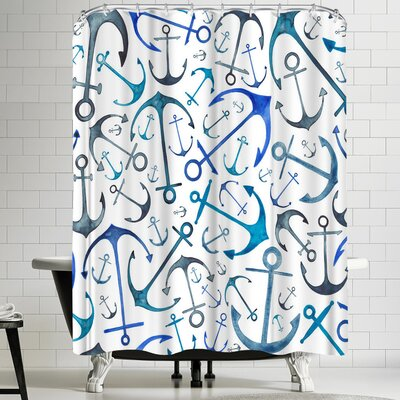 Elena Oneill Anchors Shower Curtain