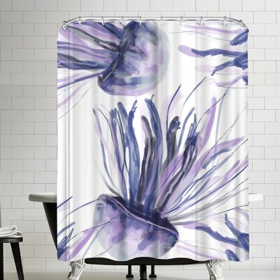 Jetty Printables Watercolor Purple Jellyfish Shower Curtain