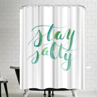 Jetty Printables Watercolor Stay Salty Art Shower Curtain