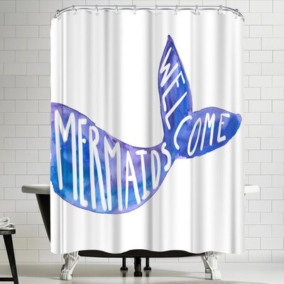 Jetty Printables Mermaids Welcome Sign Shower Curtain