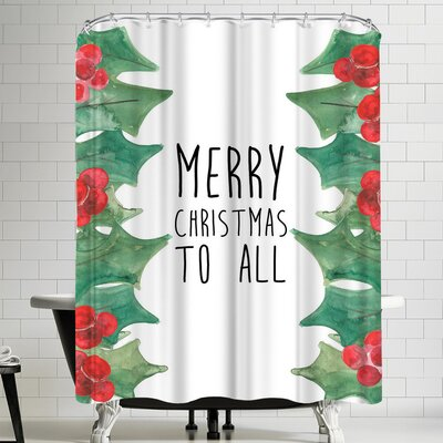 Jetty Printables Merry Christmas to All Shower Curtain
