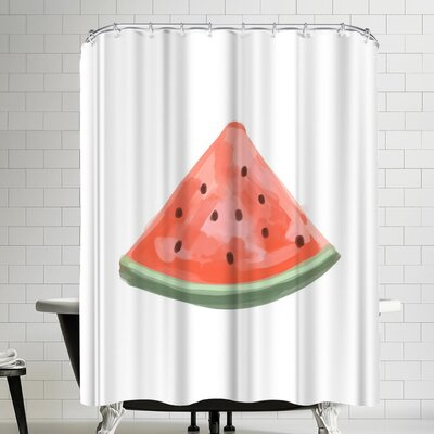 Jetty Printables Watermelon Slice Shower Curtain