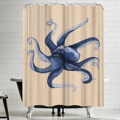 Jetty Printables Nautical Octopus Painting Shower Curtain