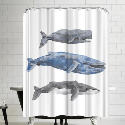 Jetty Printables Whale Painting Trio 2 Shower Curtain